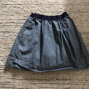 Crew cuts chambray skirt